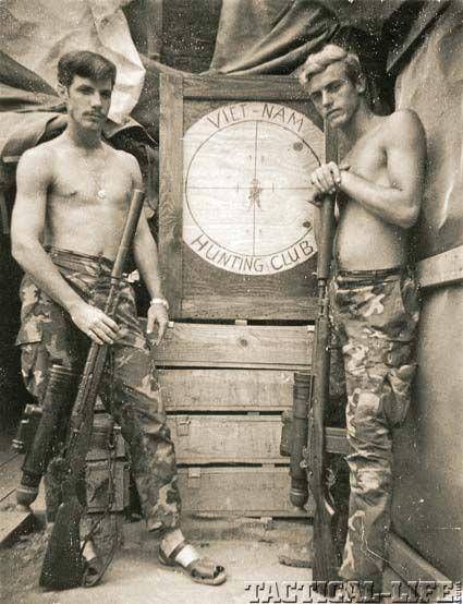 "Sgt. Carlos Hathcock, USMC, aka ""White Feather."" (On left)  Fair winds and following seas."