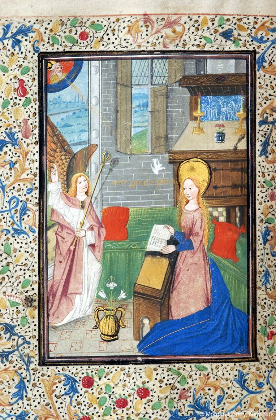 Book of Hours, MS M.93 fol. 35v - Images from Medieval and Renaissance Manuscripts - The Morgan Library & Museum
