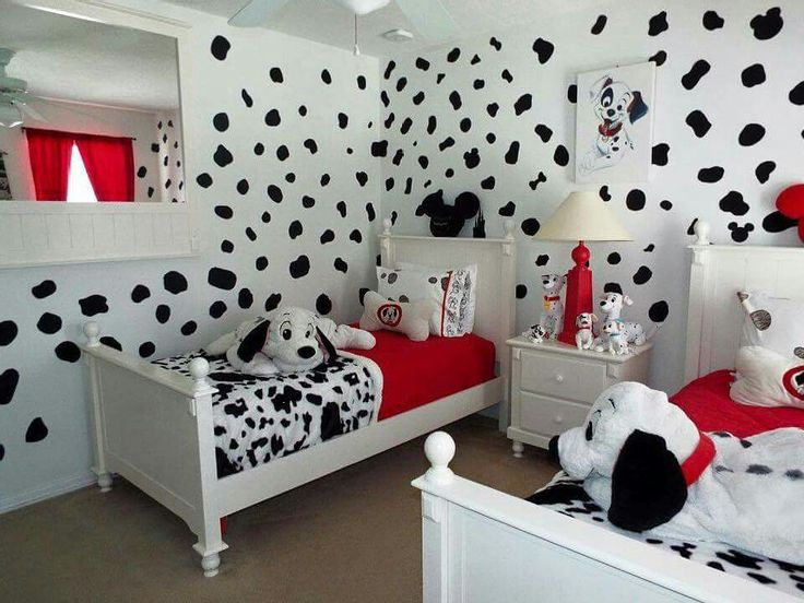 Beautiful Disney 101 Dalmatians Bedroom Home Decor Idea