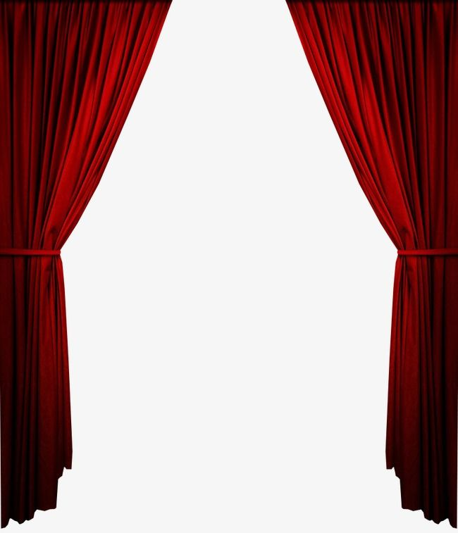 Red Curtain, Red, Curtain, Background PNG Transparent