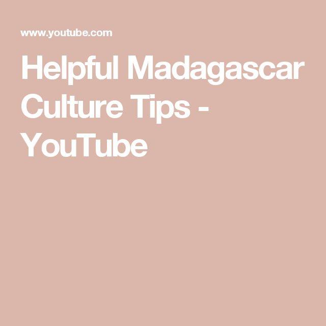 Helpful Madagascar Culture Tips - YouTube