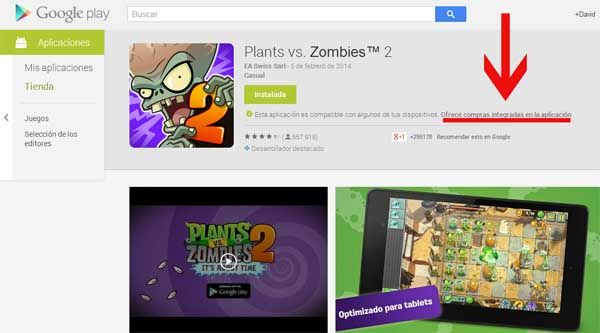 Google Play crece en beneficios gracias a los juegos gratis con compras