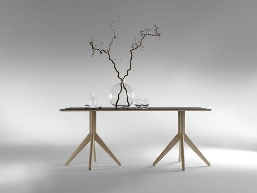 Ramo X x2 table by #LundbergsMobler  Introduced at 2016 Stockholm Furniture Fair  2016sff 2016sdw  In Holland at @Nordermobler Scandinavian furniture