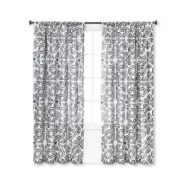Curtain Panel Kalahari Grey ($24) ❤ Liked On Polyvore Featuring Home, Home  Decor
