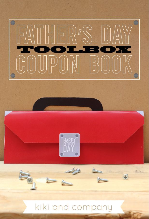 Father's Day Toolbox Coupon Book {free printable}..perfect for any tool loving dad!.