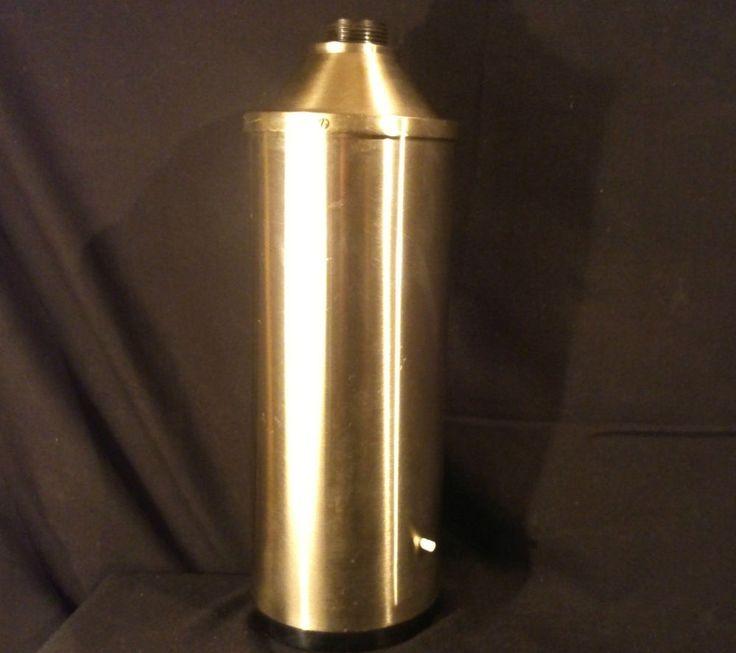 Etienne FERMIGIER Pied de lampe cylindrique chromé base a patine canon de fusil