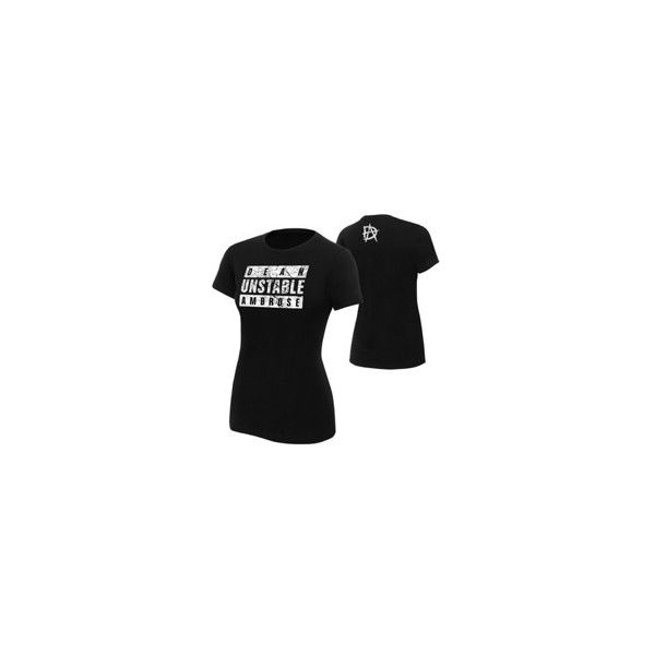 "Dean Ambrose ""Unstable Ambrose"" Women's Authentic T-Shirt ❤ liked on Polyvore featuring tops, t-shirts, wwe, dean ambrose, shirts, tee-shirt, t shirt, cotton shirts, shirt top and cotton tee"