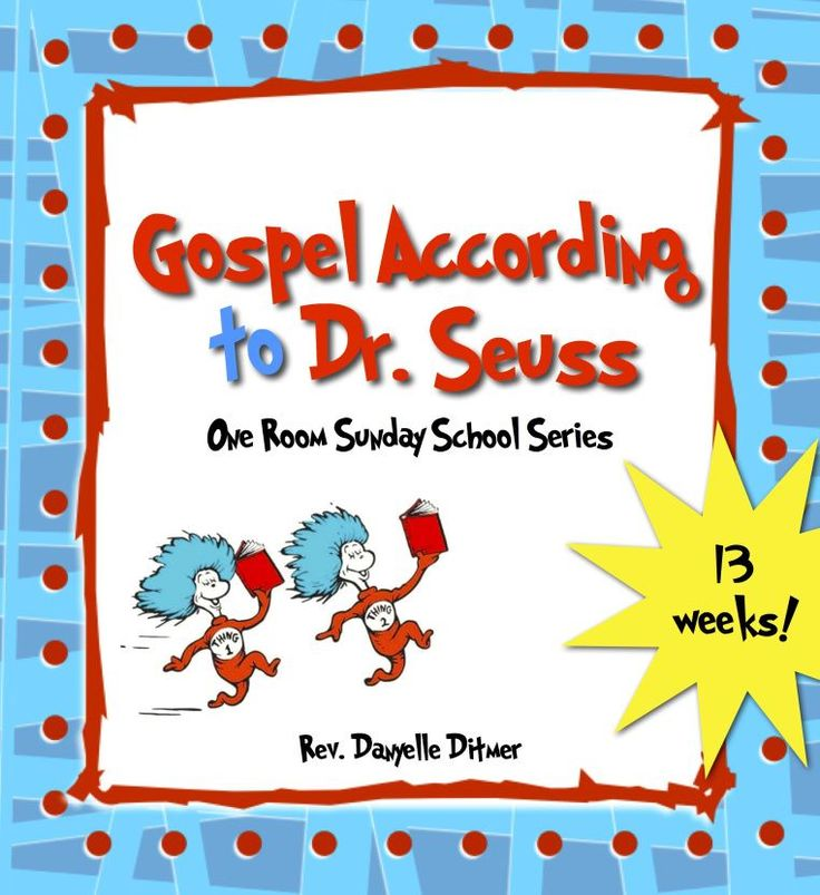 Free Bible lessons for kids using Dr. Seuss books!