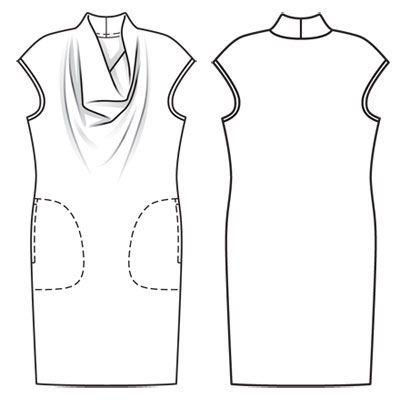 Платье - выкройка № 116 из журнала 8/2011 Burda – выкройки платьев на Burdastyle.ru