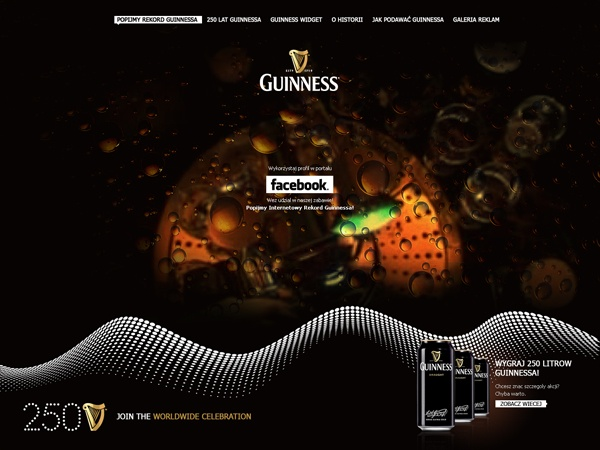 Many months ago I was the Creative Director of an Agency - except my normal ;) duties - I designed several things - small something done for Guinness was one of many... #guinness #webdesign #lodowski