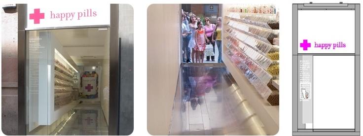 happy pills Concepto de producto, Identidad Corporativa, Diseño de tienda y Packaging