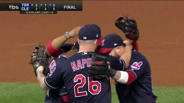 The Cleveland Indians celebrated a big Game 1 win last night.  Who will be celebrating today? http://atmlb.com/2dW04SF #MustC