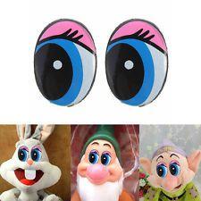 10Pcs 24x18mmAcrylic Oval Blue Safety Plastic Eyes Toy Puppets Dolls Craft DIY