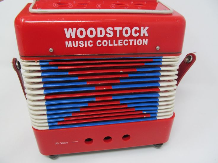 Accordian - Woodstock Music Collection Music Box by CellarDeals on Etsy