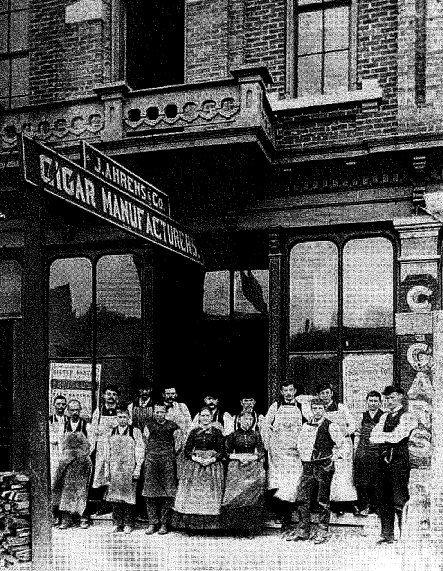 J. Ahren's & Co. Cigar Manufacturers, Saginaw, MI ~ date unknown