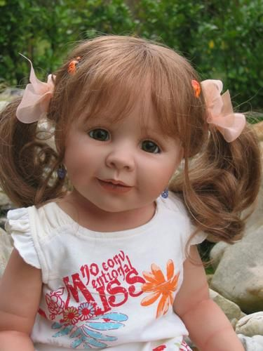 This one looks amazingly like one ofmy daughters! -  monika peter leicht dolls