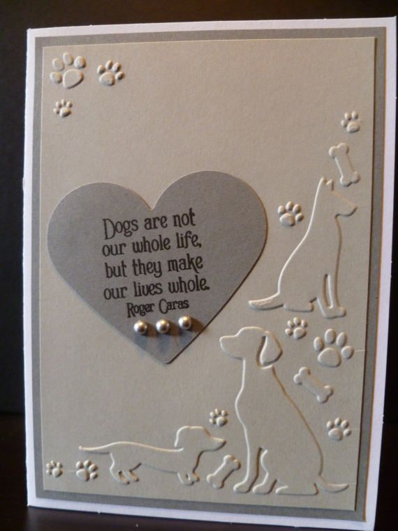 Handmade Dog Sympathy Card, Pet Sympathy