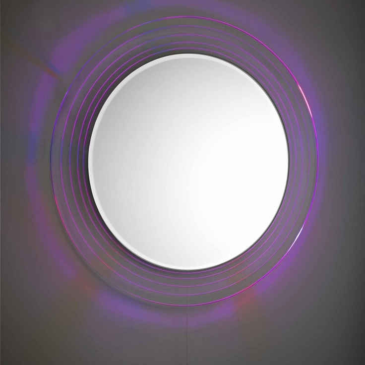 LED energy saving Premier Orpheus Pull Cord Colour Change Mirror