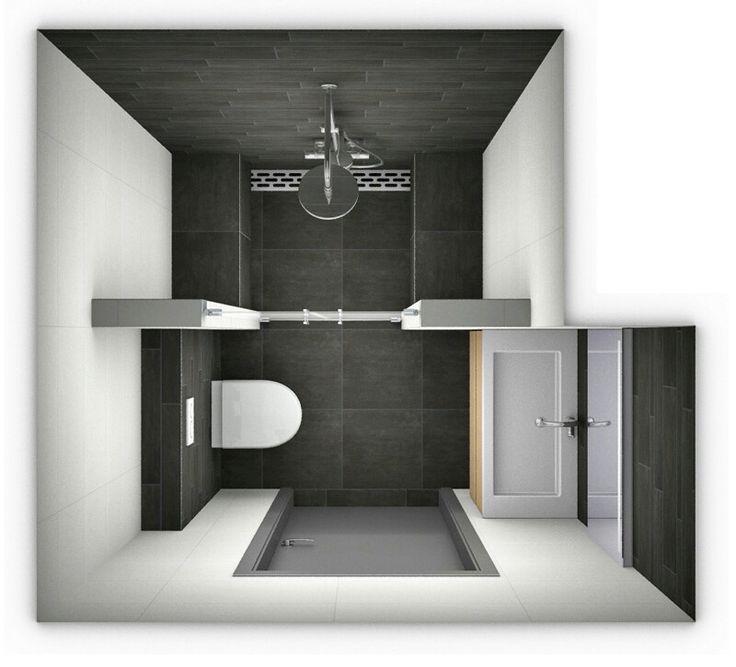 17 meilleures id es propos de salle de bains sous les - Toilette sous escalier ...
