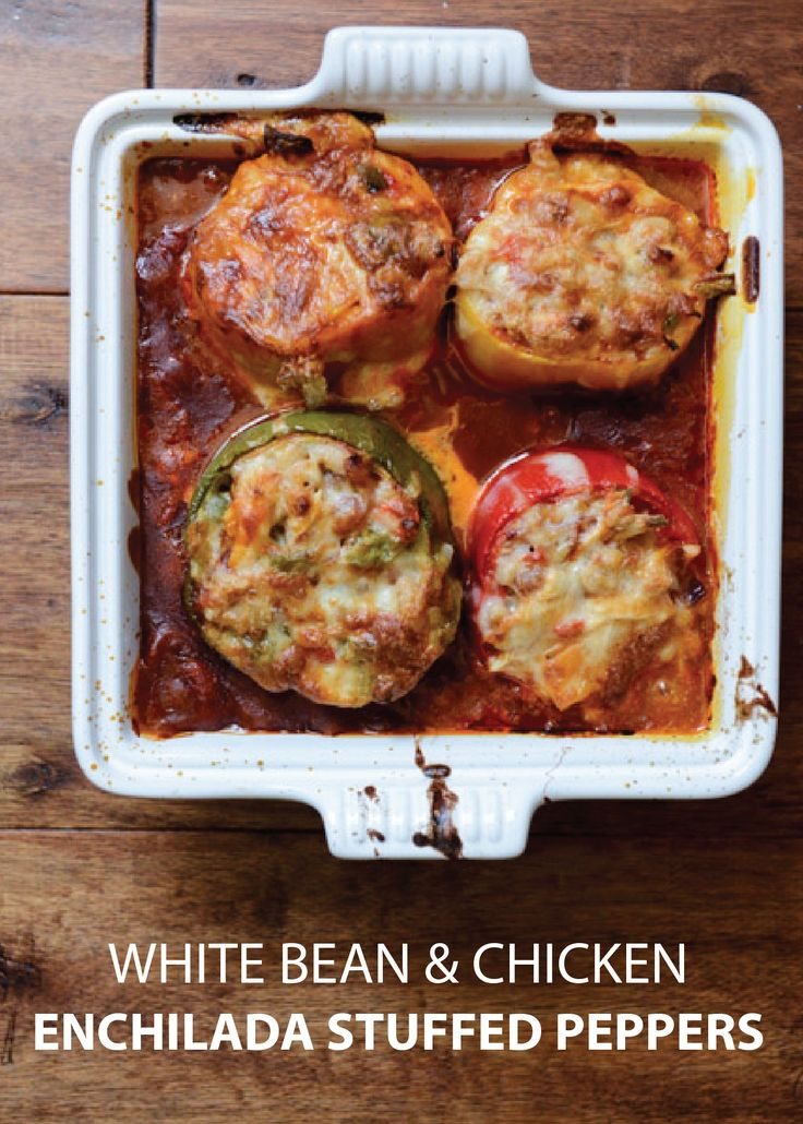chicken and white bean stew chicken and white bean stuffed peppers