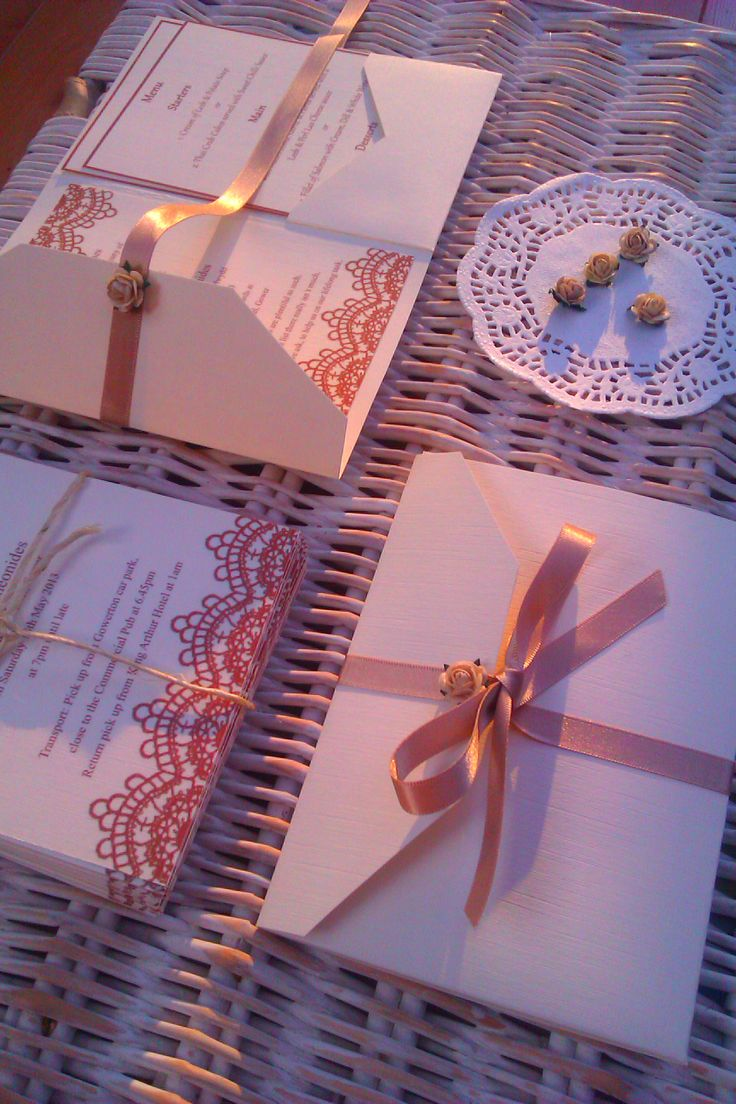Lace invitations