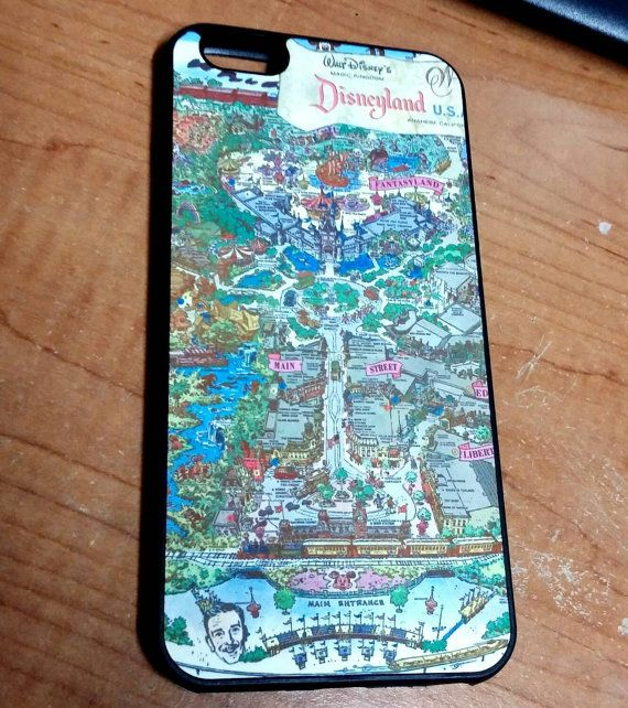 Custom made phone case featuring the 1962 Disneyland Park Map.  Iphone 6 & 6s Iphone 6 plus Iphone 5 & 5s Samsung Galaxy 5 Samsung Galaxy 6 Samsung Note 4 Samsung Galaxy 4   Material: rubber case with aluminum back  Printed via sublimation.
