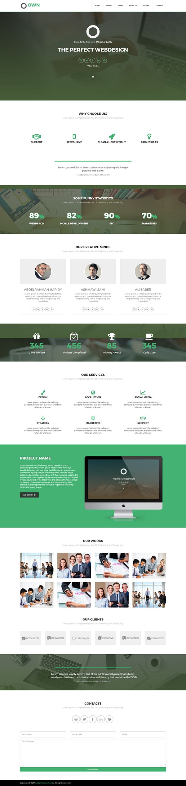 Jquery plugins to work with data presentation and grid layout - Own Responsive Html5 Template 40 Off All What You Need For Your Business