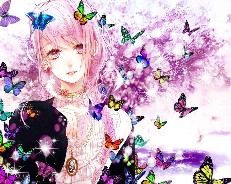 Anime Rainbow Butterfly Girl Anime♡•••ℝainbow Girls