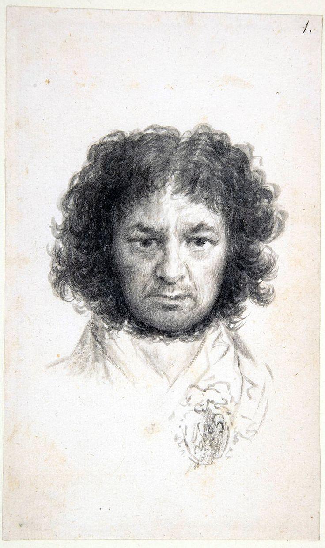 Goya selfportrait - Francisco de Goya - Wikipedia, la enciclopedia libre