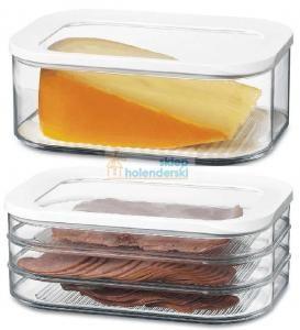 pojemniki szklane na ser, wędliny - do lodówki