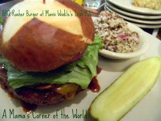 BBQ Rasher Burger from Restaurant Review: Mavis Winkle's Irish Pub in Independence Ohio ~ A Mama's Corner of the World