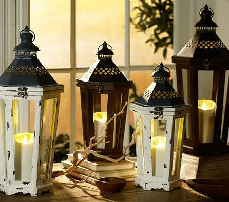 Luminara Flameless Candle Lantern with a top latch, 250 hours of glow time, 5 hour timer and indoor/outdoor use.