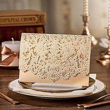 Papiernictvo - Luxusní zlaté svatební oznámení - Margit - 5542259_