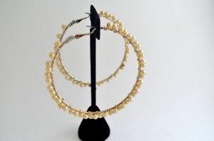 Handmade Vintage Pearl Wraped Hoop Earrings $19.99: Vintage Pearls, Handmade Vintage, Pearl Wraped, Hoop Earrings, Earrings 19 99, Wraped Hoop, Handmade Jewelry