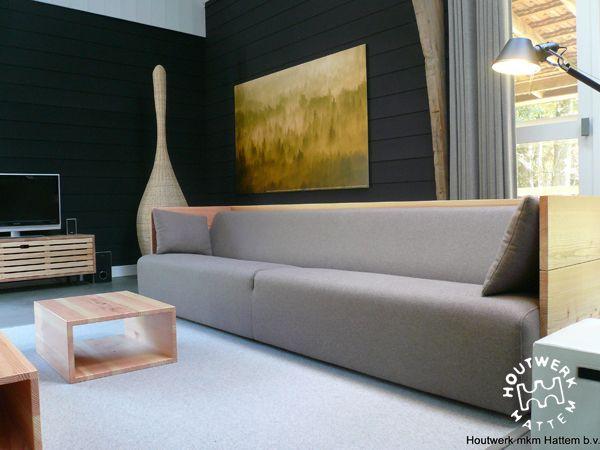 Banken • Houtwerk Hattem: houten design meubels op maat