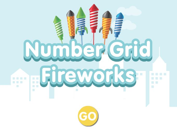 Number grid fireworks game - Learning 1-100, First Grade Math http://www.abcya.com/100_number_grid.htm