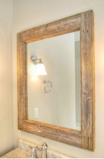 rustic bathroom mirror cabinet cabin mirrors modern farmhouse diy frame