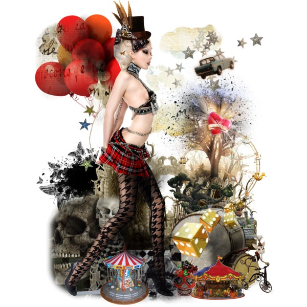 dark circus !, created by eva-lara.polyvore...