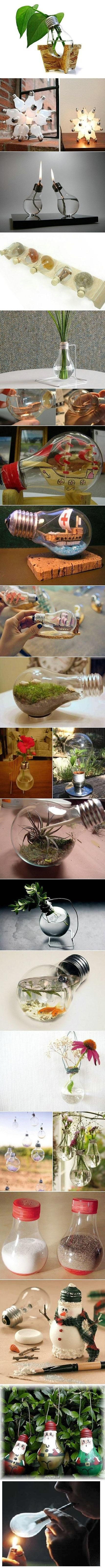 Creative light bulbs.,,,all except for the last one