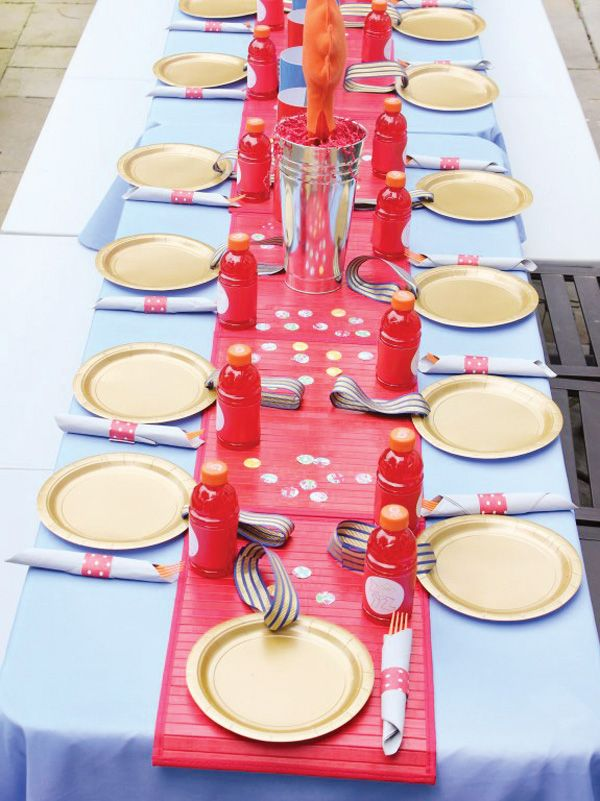 """Gold Medal"" plates for an Olympic birthday party"