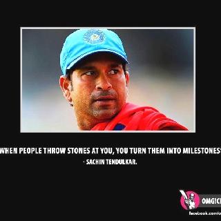 Wisdom of Sachin Tendulkar
