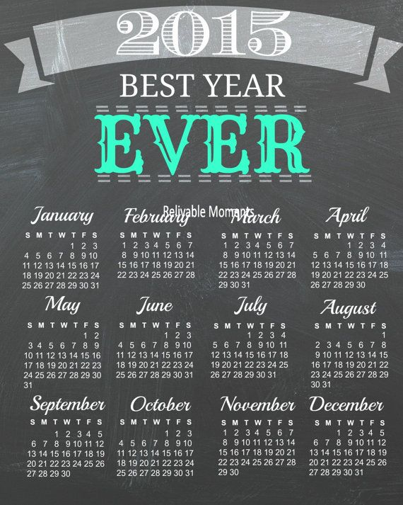 CYBER MONDAY DEALS! #cybermonday 2015 Year Calendar  2015 printable wall by RelivableMoments #hepteam