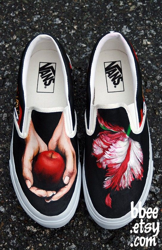 Twilight Vans!! I want these so bad!  even if I'm not the biggest Twilight fan I still think the shoes are freakin cool and that have a pop of color