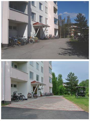 Taloyhtiön pihan perusparannuksen suunnittelu - Planning a apartment house courtyard