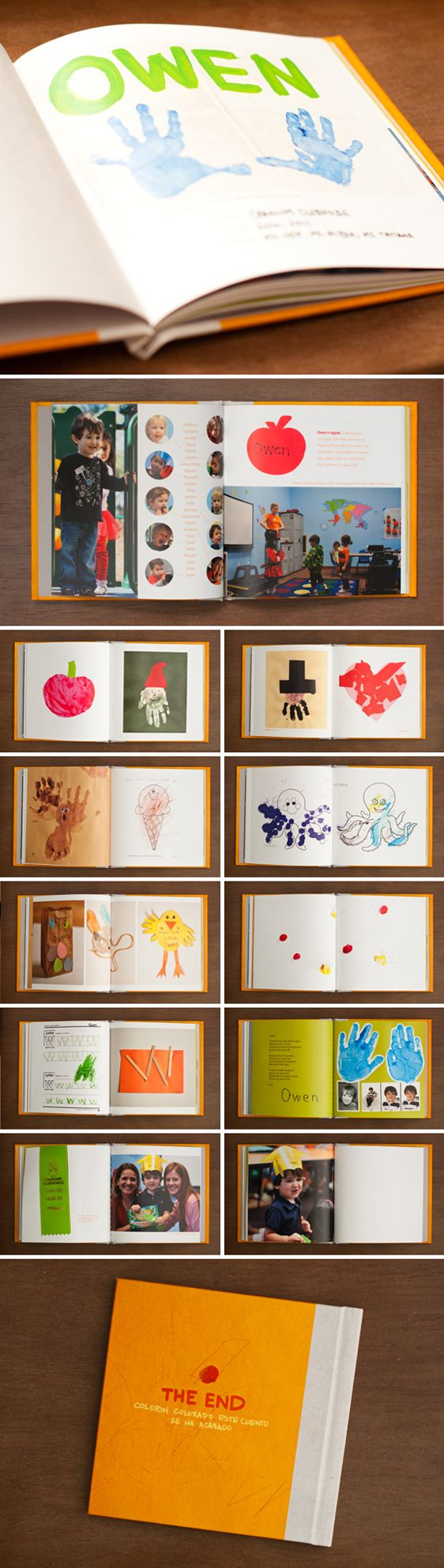 Scan or take photos of art work and writings — Book of School Projects. Love love love this idea!