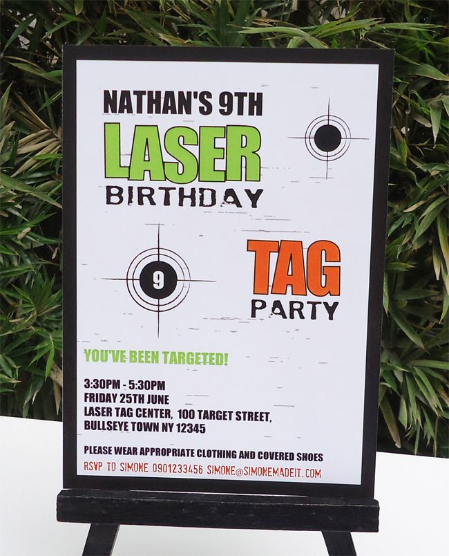 31 best Laser Tag Party images on Pinterest | Birthdays, Laser tag ...