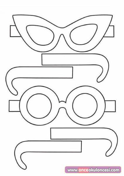 Gözlük Kalıbı Okul öncesi Ile Ilgili Görsel Sonucu Plandakiler