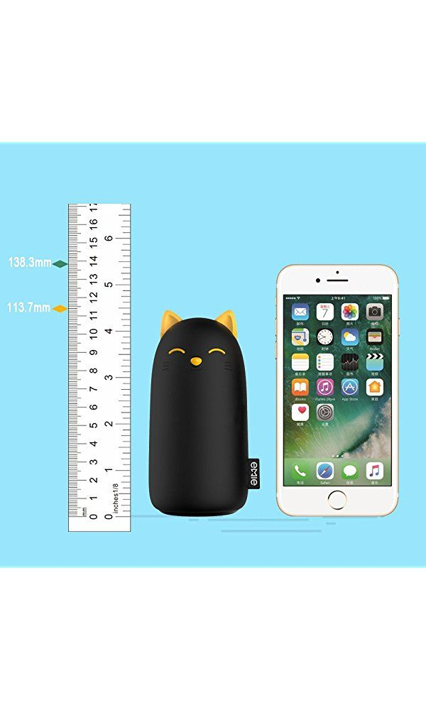 sale retailer c81de d7ab7 EMIE Kitten 10000mAh Portable Charger ,5V 2.1A Cartoon Cute Cat Fast ...