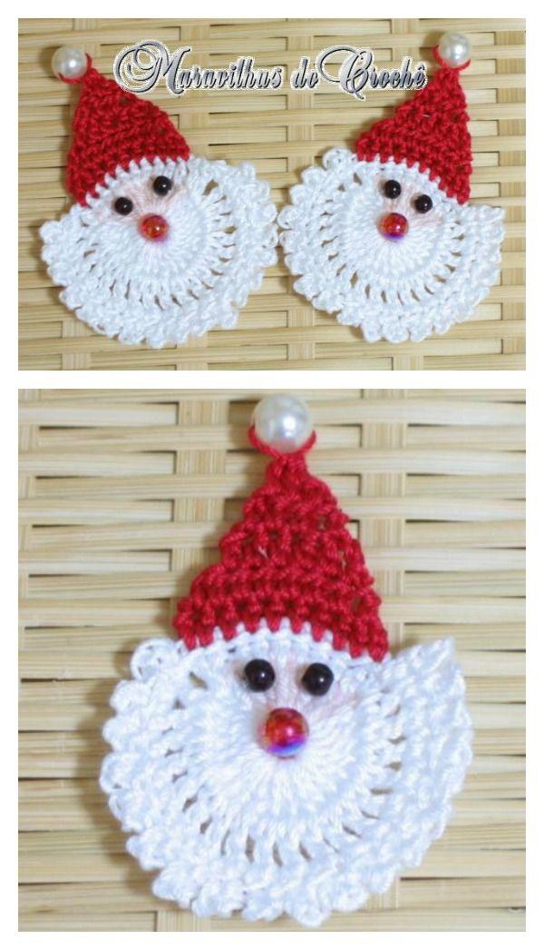 Santa Ornament Free Crochet Pattern