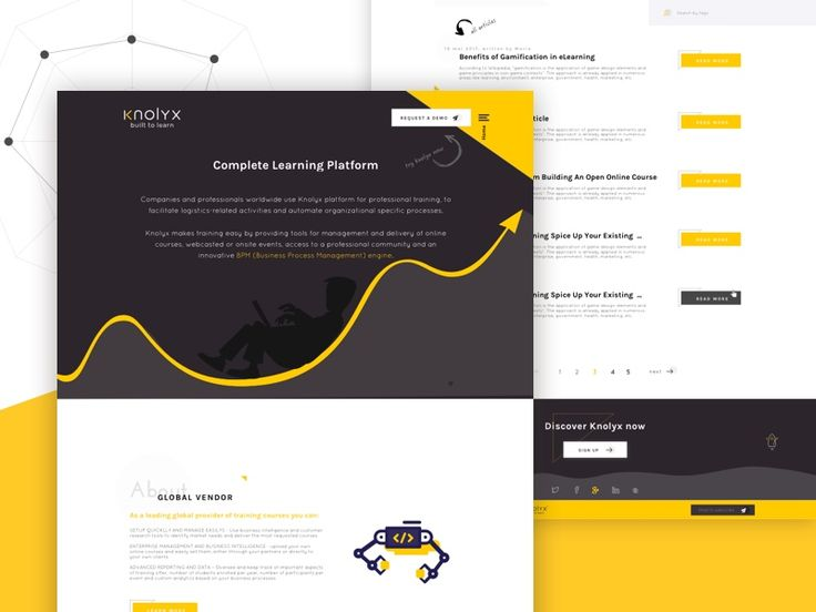 Landing page for e-learning app by Florentina Sarov